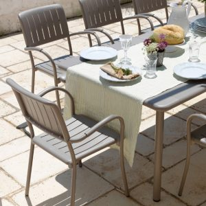 Musa Chairs & Maestrale Table Dining Setting - Taupe (Alternate View)
