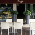 Regina Commercial Chair (Cream) in a Café Setting