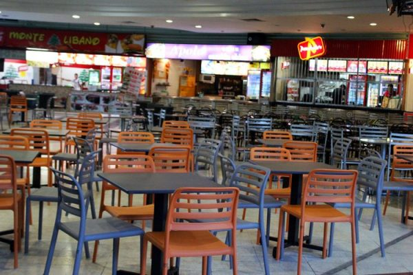 costa-cafe-bistro-chair-nz-in-food-court-orange-charcoal
