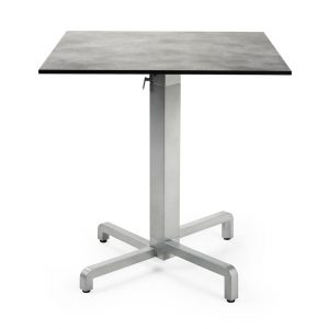 High Pressure Laminate Table Top - Cement Colour, Pictured with Ibsico Folding Table base
