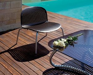 Nardi Outdoor Furniture Chairs - Ninfea Relax Coffee Colour NZ