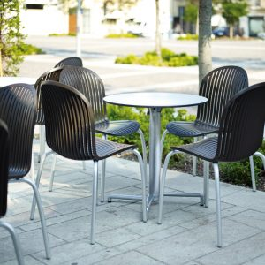 Ninfea Outdoor Dining Chair - Outdoor chairs in Cafe Setting