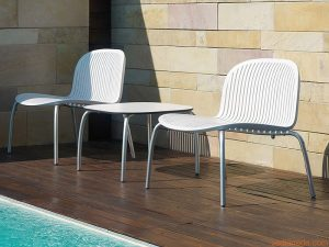 Ninfea Relax White Pool Side Chairs NZ