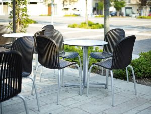 Scudo Folding Table Base NZ - Outdoor Cafe Furniture