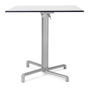 Scudo Folding Table Base NZ - Pictured with HPL Table Top
