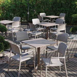 Bora Outdoor Armchair in Taupe - Cafe Furniture NZ