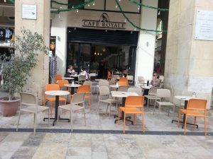 Bora Modern Outdoor Chair NZ - Cafe / Coffee Shop Setting
