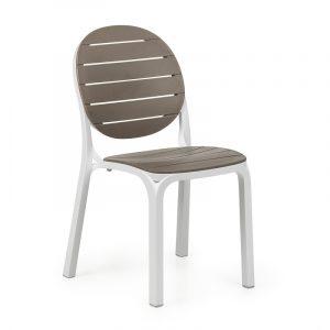 Erica Garden Chair NZ - Taupe/White