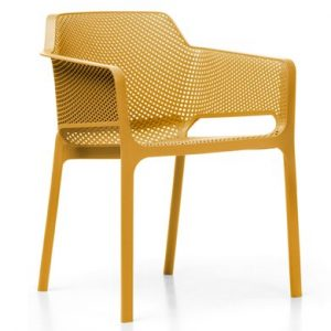 Net Outdoor Cafe Chair NZ - Mustard Colour