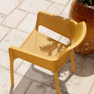 Net Outdoor Cafe Chair in Mustard (View from above)