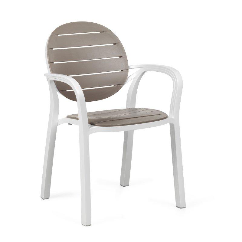 Palma Garden Armchair NZ - Taupe/White
