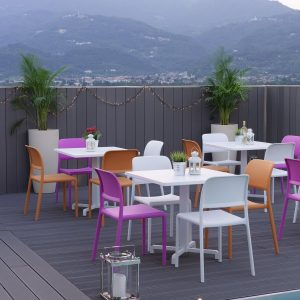 Riva Indoor / Outdoor Resin Chair NZ - Cafe by the pool