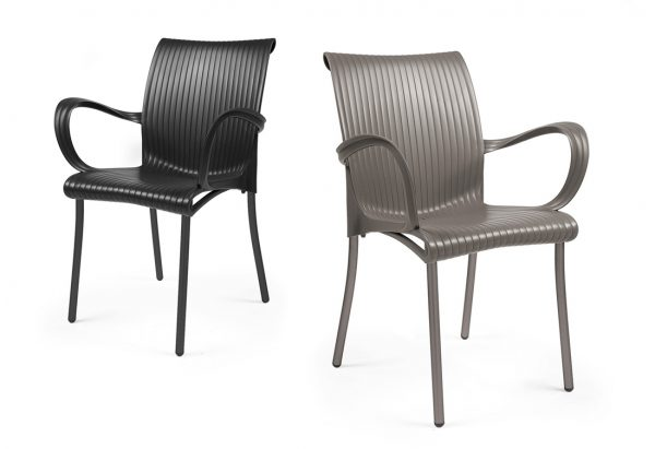 Dama Chairs – Taupe & Charcoal