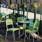 Alaska Weave Chairs - Green, Pictured at a Cafe/Coffee Shop