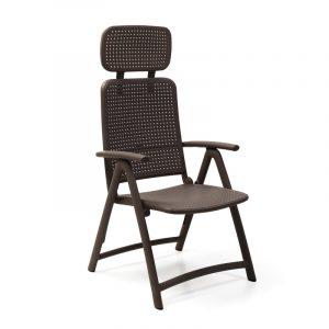 Aquamarina Reclining Pool Chair NZ - Coffee Colour