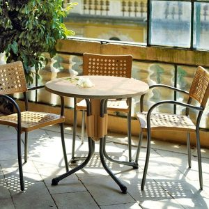 Artica Rattan Cafe Chairs in a Balcony Setting