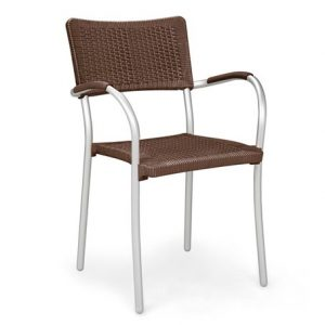 Artica Wicker Cafe Chair - Coffee Colour