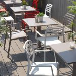 Costa Cafe Armchair NZ - On wooden patio deck