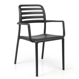Costa Commercial Cafe Armchair NZ - Charcoal
