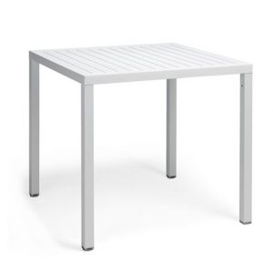 Cube Outdoor Italian Table - White Colour