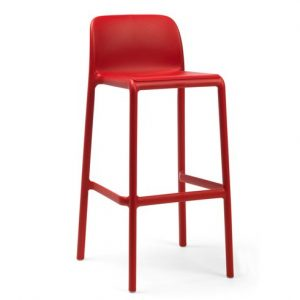 Faro Resin Outdoor Bar Stool NZ - Red