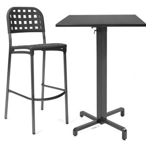 Ibisco Folding Bar Leaner NZ (Bar leaner base pictured with Globo Bar Stool)