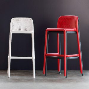Lido Modern Outdoor Bar Stool NZ - Stackable