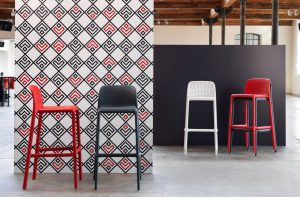 Lido Modern Outdoor Bar Stools NZ - Pictured with Faro Bar Stools