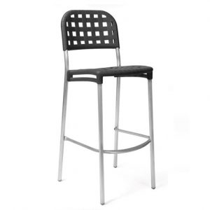 Globo Weave Bar Stool NZ - Charcoal