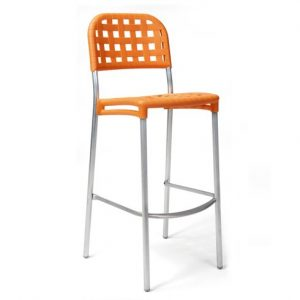 Globo Weave Bar Stool NZ - Orange