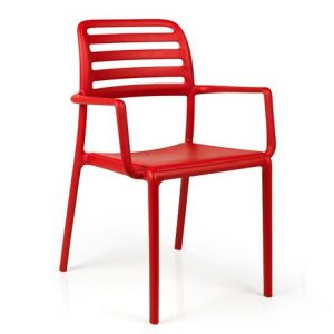 Costa Commercial Cafe Armchair NZ - Red