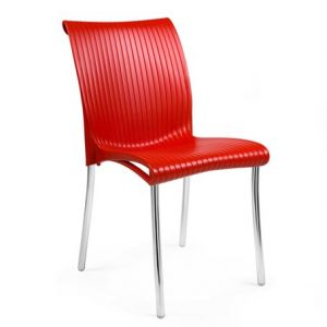 Regina Chrome Dining Chair NZ - Red