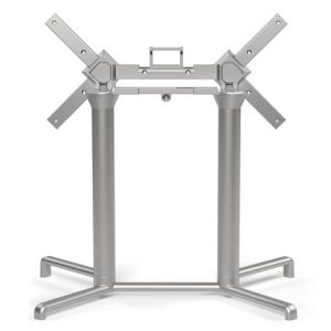Scudo Outdoor Double Folding Table Base NZ - Silver