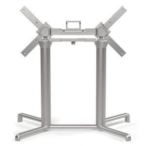Scudo Outdoor Double Folding Table Base NZ - Silver