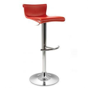 Conte Gas Lift Bar Stool NZ - Red
