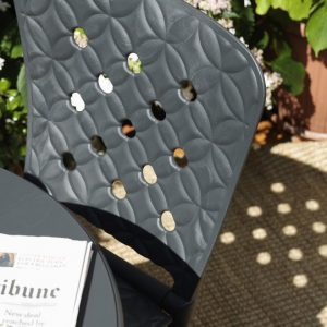 Close up of Zac Spring Outdoor Folding Chair Texture