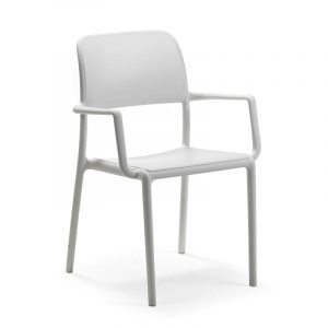Riva Resin Outdoor Armchair NZ - White