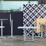Scudo Outdoor Safe Double Folding Table Base NZ - Silver (anodized aluminium) & Scudo Folding Table Base Collection
