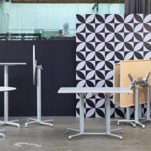 Scudo Outdoor Safe Double Folding Table Base NZ - Silver (anodized aluminium) & Scudo Folding Table Base Collection