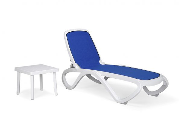 Omega Sun Lounger & Rodi Table