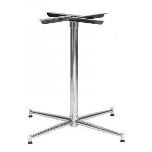 Tasman Table Base 590 - Chrome plated steel