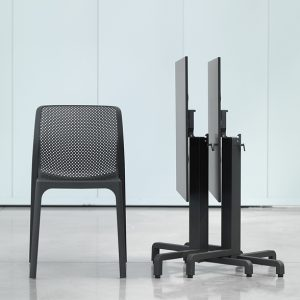 Bit Chair with Ibisco Folding Table (HPL top) - Charcoal