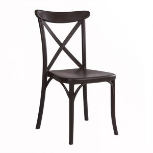 Cross Back Chair NZ - Wenge