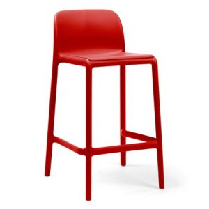 Faro Mini - Kitchen Counter Height Bar Stool (Red)