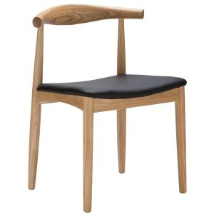 Elbow Chair Replica (Hans Wegner) - Natural Wood Colour Showroom View