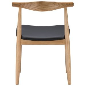 Elbow Chair Replica (Hans Wegner) - Natural Wood Colour Back View