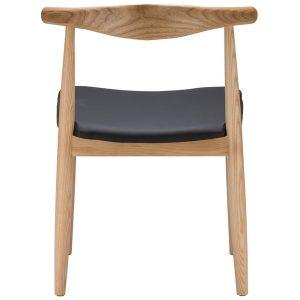 Elbow Chair Replica (Hans Wegner) - Natural Wood Colour Back View