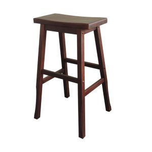 Osaka Japanese Bar Stool NZ - Commercial Height (Walnut Colour)