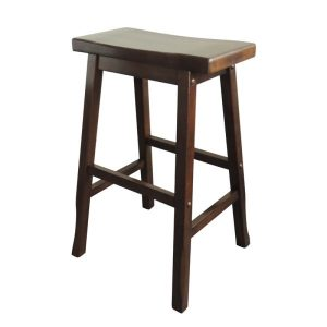 Osaka Japanese Bar Stool NZ - Kitchen Counter Height, Walnut Colour