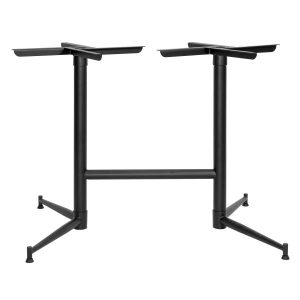 Tasman Double Powder Coated Table Base NZ - Black